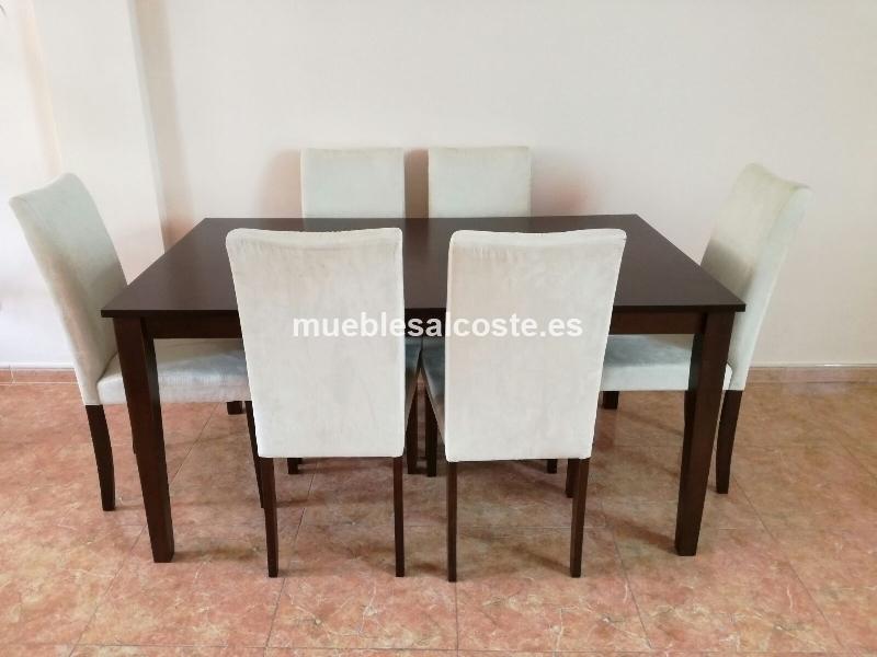 MESA COMEDOR + 6 SILLAS cod:22716 segunda mano, Mueblesalcoste.es
