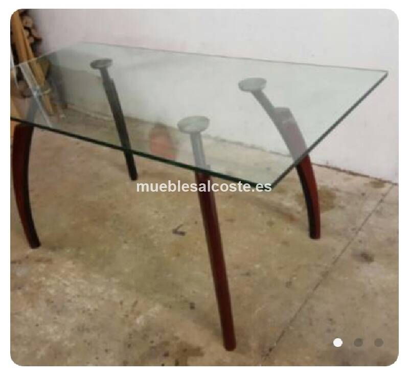 Mesa cristal comedor cod 22799 segunda mano for Mesas de comedor de cristal segunda mano