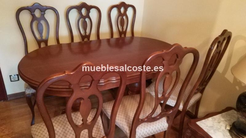 mesa madera comedor clásica 6 sillas cod:22978 segunda mano ...