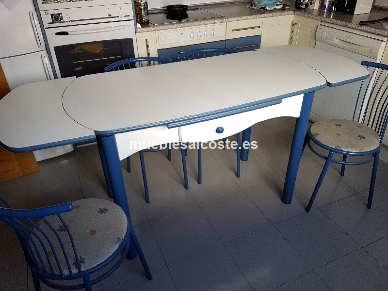 Mesa y sillas de cocina cod 23121 segunda mano - Sillas de cocina de segunda mano ...