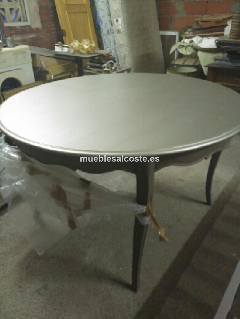 Mesa comedor provenzal gris cod:23173 segunda mano, Mueblesalcoste.es