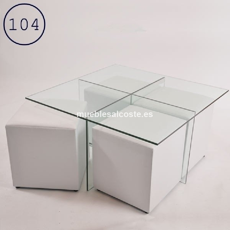 Mesa de centro cod 23504 segunda mano for Mesa cristal segunda mano