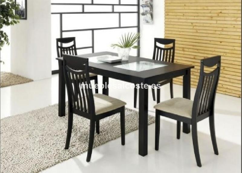 Mesa de comedor extensible 6 sillas tapizadas cod 23508 for Comedores pequenos y bonitos