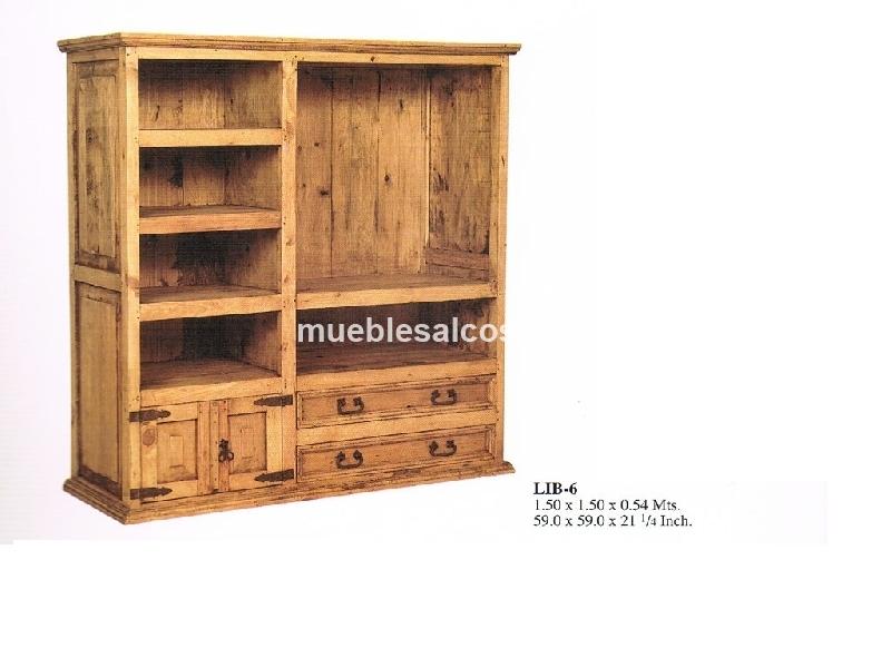Mueble tv rustico mexicano cod 23561 segunda mano for Muebles de cocina rusticos de segunda mano