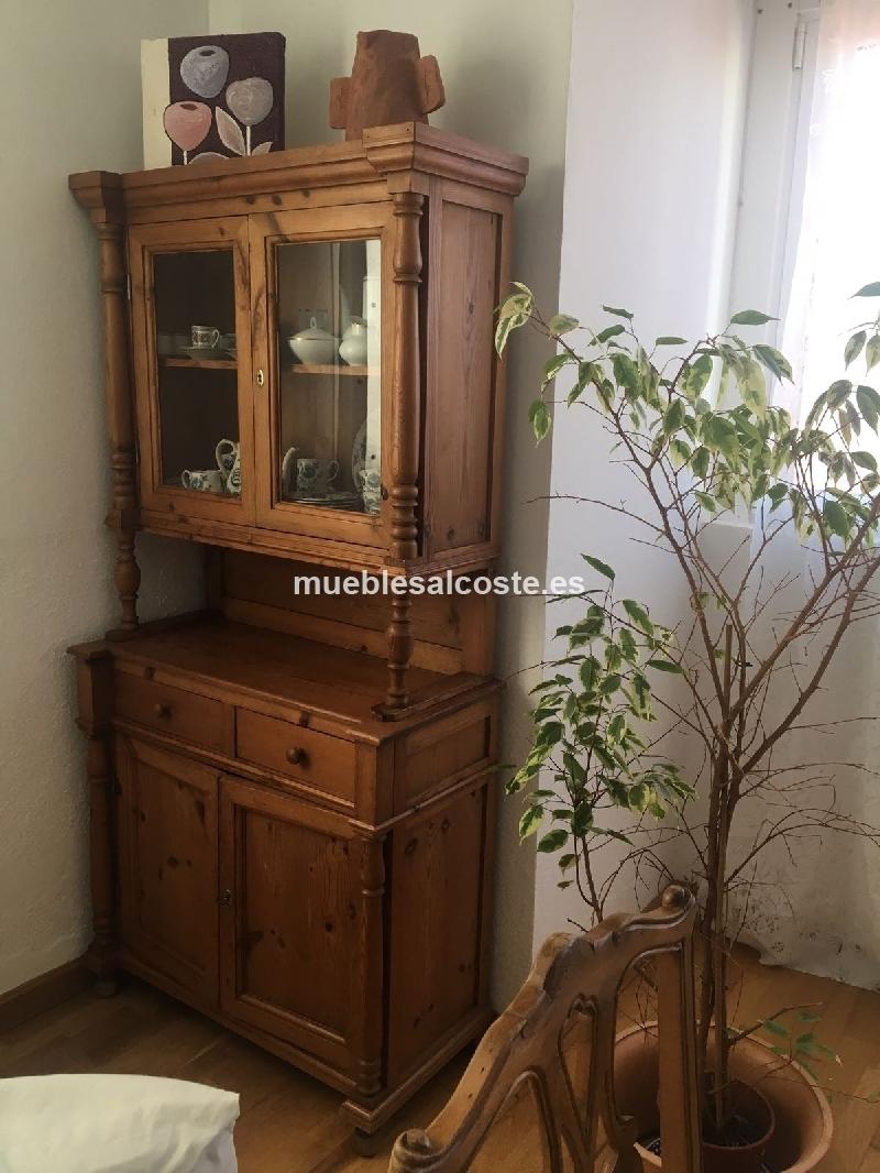 mueble vitrina rustico lanzarote cod 23625 segunda mano