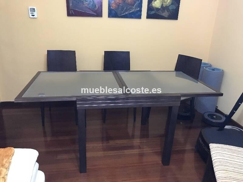 Mesa sillas salon comedor haya cod 23888 segunda for Mesa comedor haya