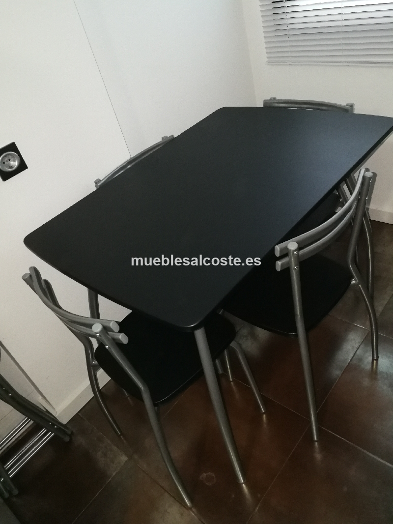 Mesa cocina más 4 sillas cod:23920 segunda mano, Mueblesalcoste.es