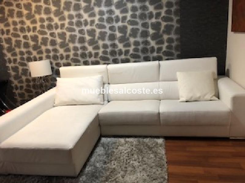 Sofa chaiselongue blanco de polipiel cod 24051 segunda - Sofa blanco polipiel ...