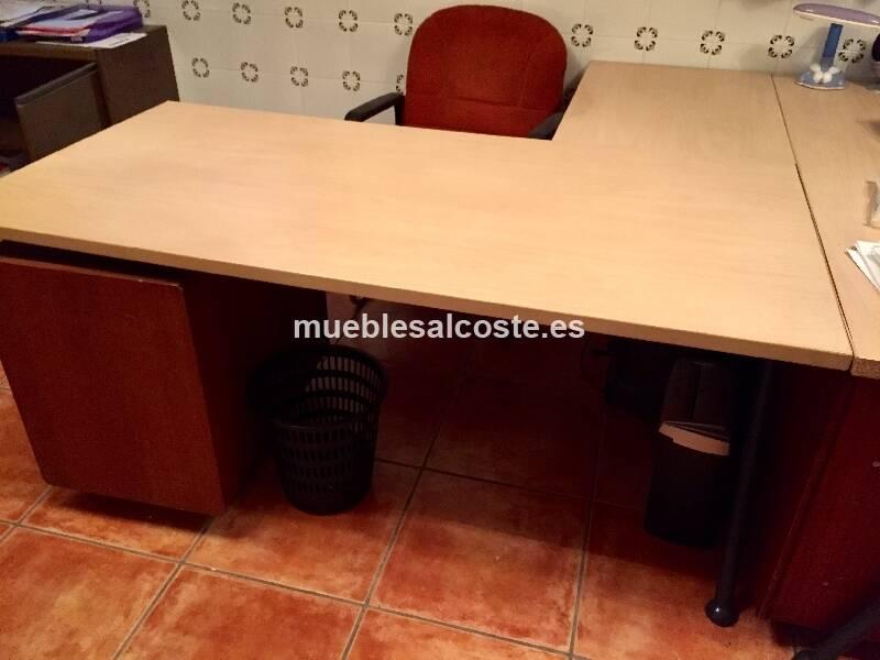 Mesas de oficina con alas cod:24448 segunda mano, Mueblesalcoste.es