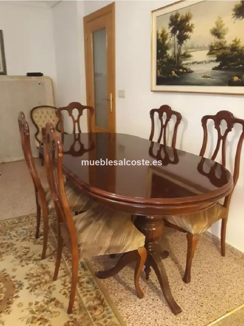 Mesa de comedor con su 6 sillas cod:24485 segunda mano ...