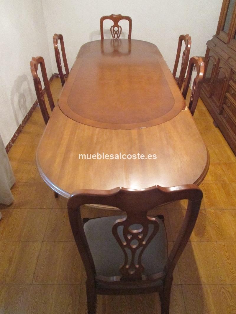 Mesa comedor extensible y sillas cod 24614 segunda mano for Sillas madera segunda mano