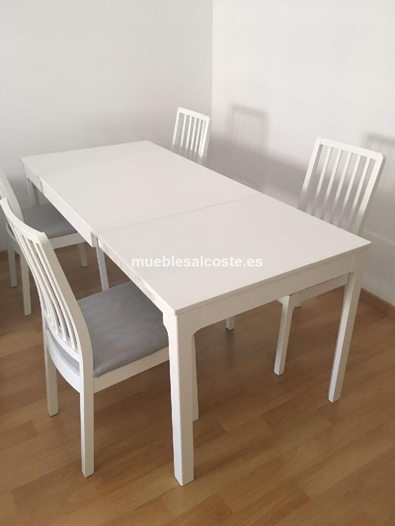 CONJUNTO MESA + 4 SILLAS EKEDALEN IKEA cod:24624 segunda mano ...