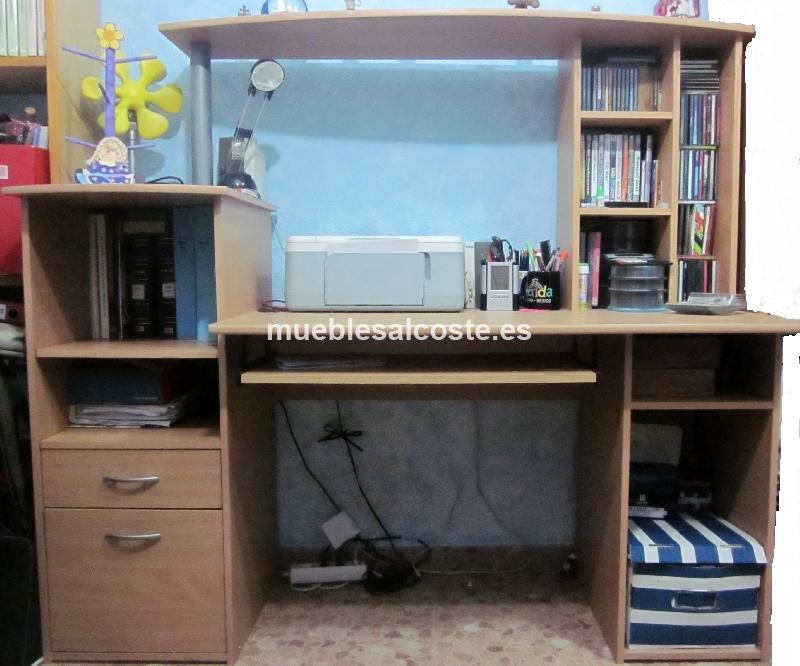 Mesa despacho estilo madera acabado igual foto cod 12113 segunda mano - Mesas de despacho segunda mano ...