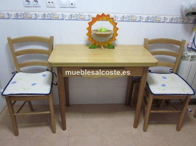 Mesa de cocina 2 sillas cod 12112 segunda mano - Mesa cocina segunda mano ...
