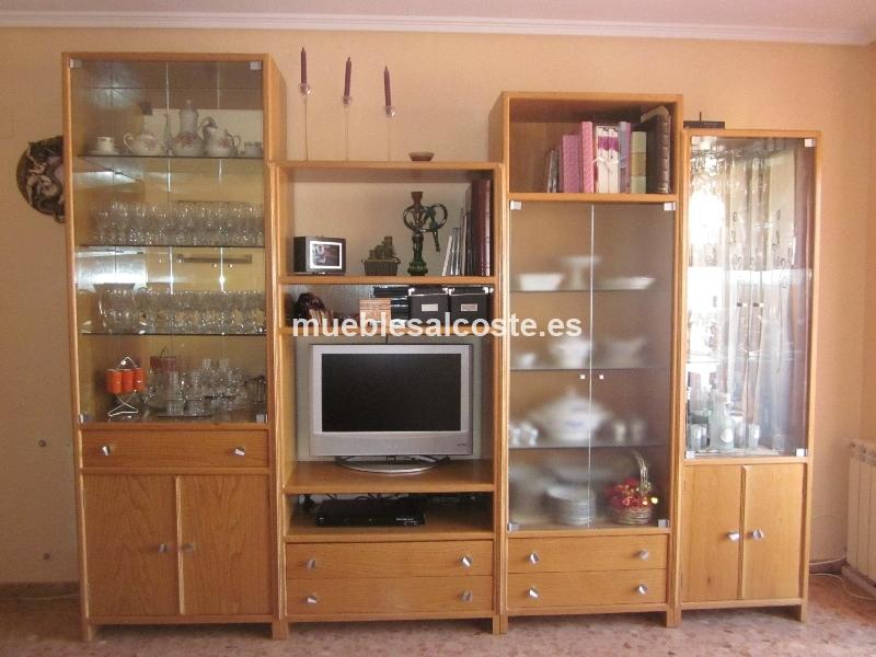 Mueble de salon por modulos cod 12115 segunda mano for Muebles de segundamano madrid