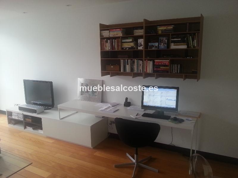 Conjunto escritorio libreria y mueble tv cod 12118 for Mueble tv dormitorio