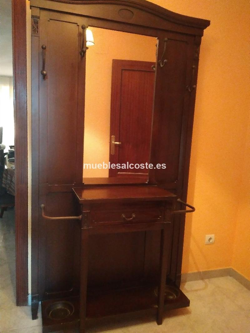 Mueble recibidor con perchero espejo y cajon cod 25006 - Mueble perchero recibidor ...