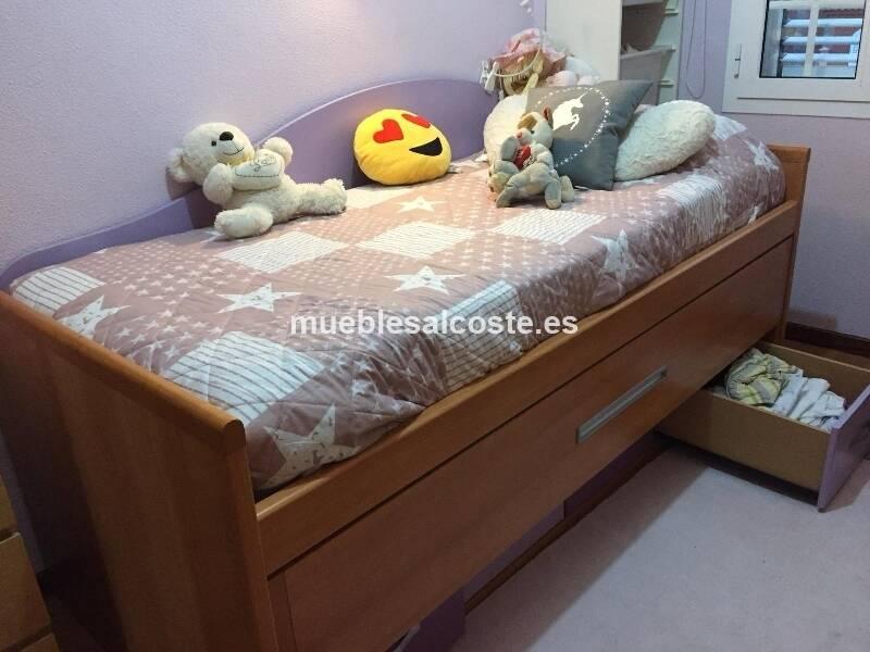 Cama nido con amplias cajoneras y estanteria cod 25061 segunda mano - Cama nido segunda mano ...