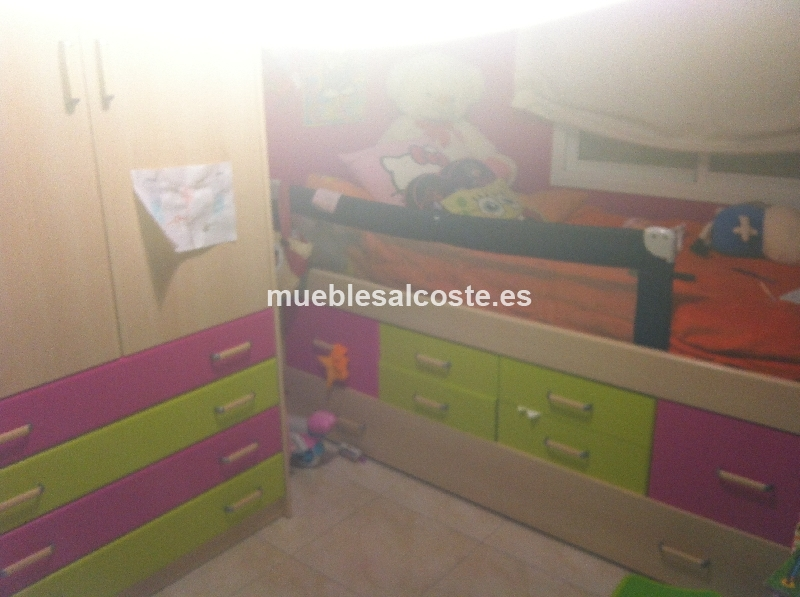 Habitacion juvenil estilo moderno acabado melamina cod - Habitacion juvenil barcelona ...