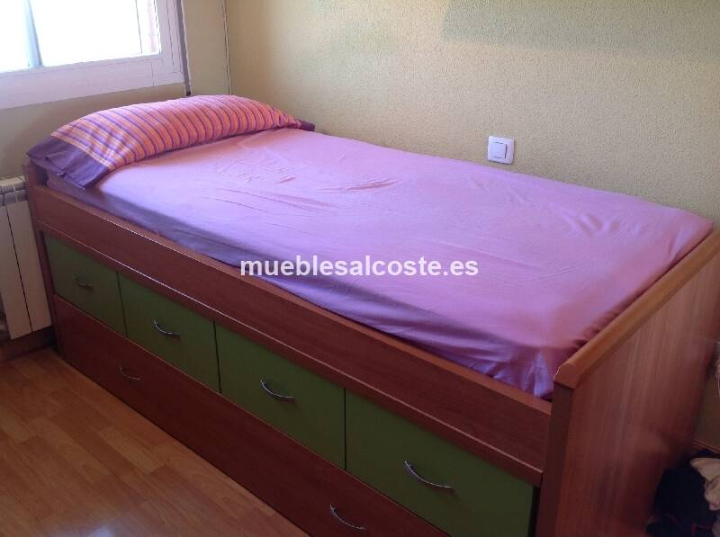 Dormitorio con cama nido y escritorio cod 12347 segunda - Cama nido segunda mano ...