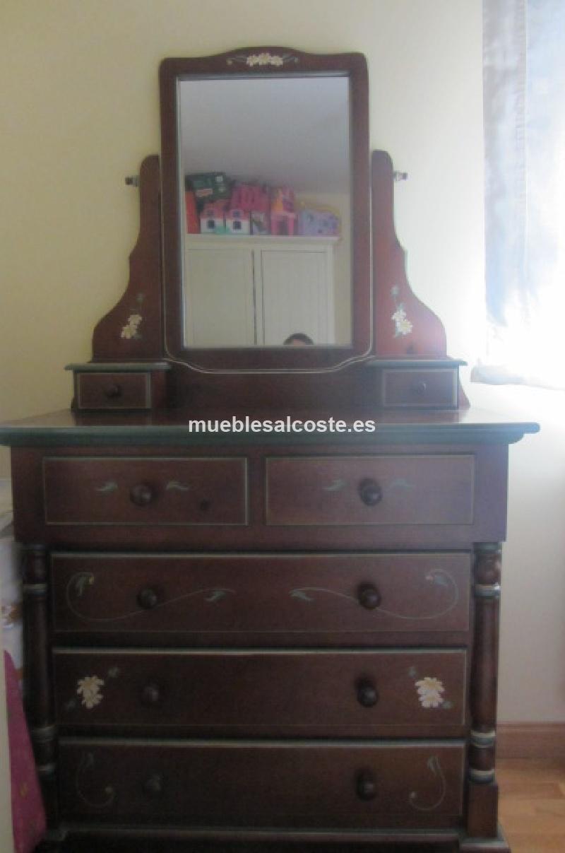 Comoda con espejo cod 12677 segunda mano for Espejo segunda mano