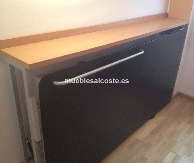 Cama abatible con panel de pizarra cod 12745 segunda mano - Cama pared plegable ...