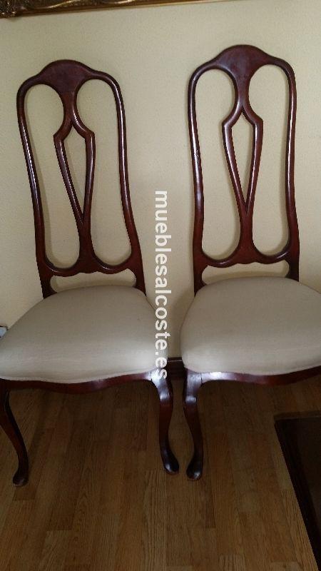 Conjunto de seis sillas comedor + fundas