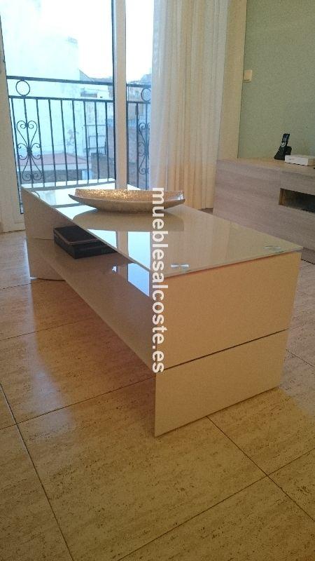 Mesa centro estilo moderno acabado chapa natural cod for Mesa centro segunda mano