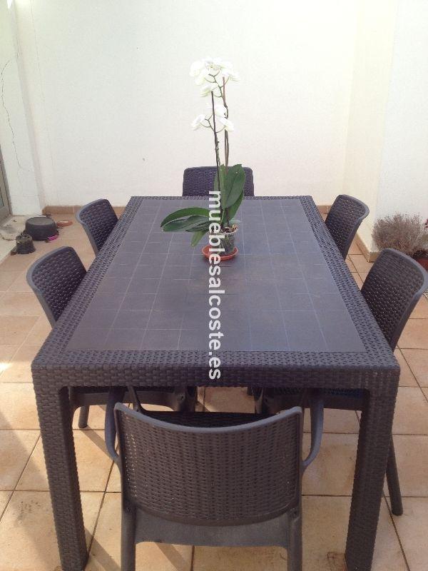 Conjunto mesa y sillas para el jardin cod 15805 segunda for Mesas y sillas de jardin segunda mano