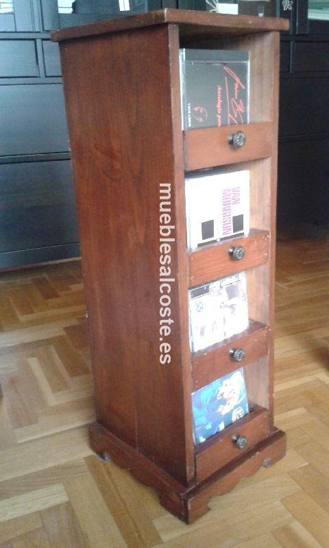 Mueble guarda cds de madera colonial cod 18358 segunda - Muebles para cd ...