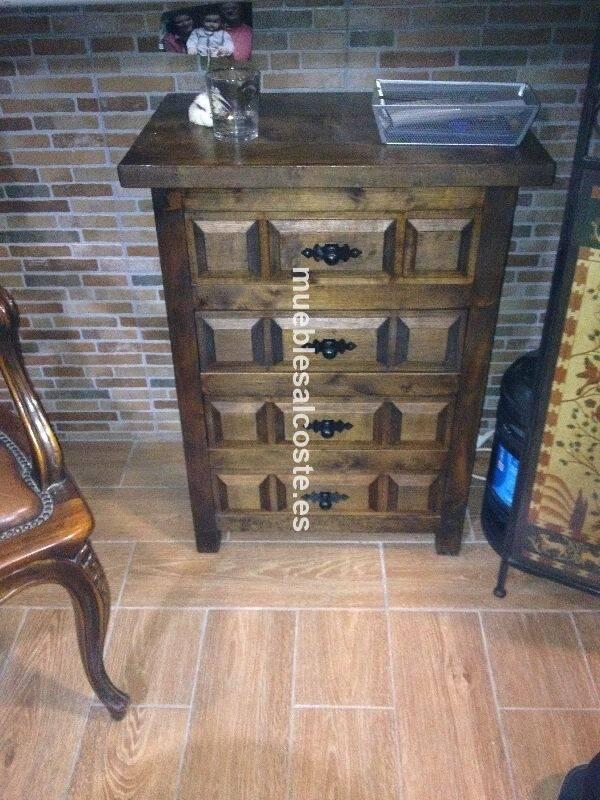 Mesa cajonera rustica madera cod 19617 segunda mano - Mesa madera rustica ...