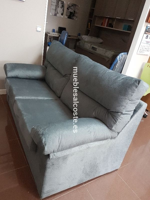 Sofa 3 plazas tapizado duna gris desenfundable