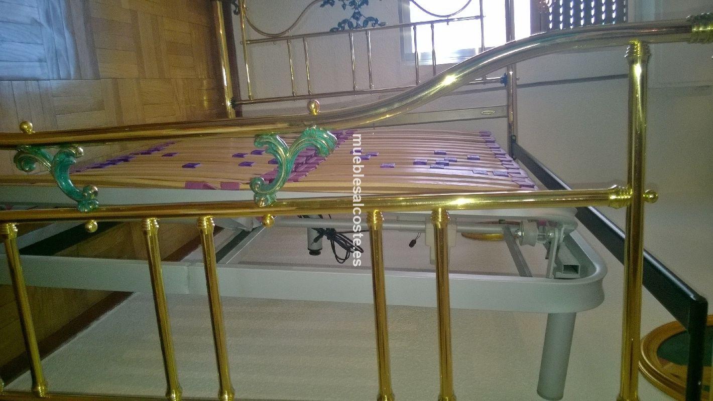 cama de bronce con somier articulado con motor cod:22255 segunda ...