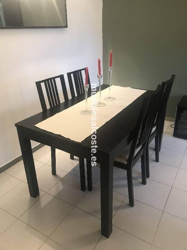 Mesa comedor y sillas Ikea cod:23918 segunda mano, Mueblesalcoste.es