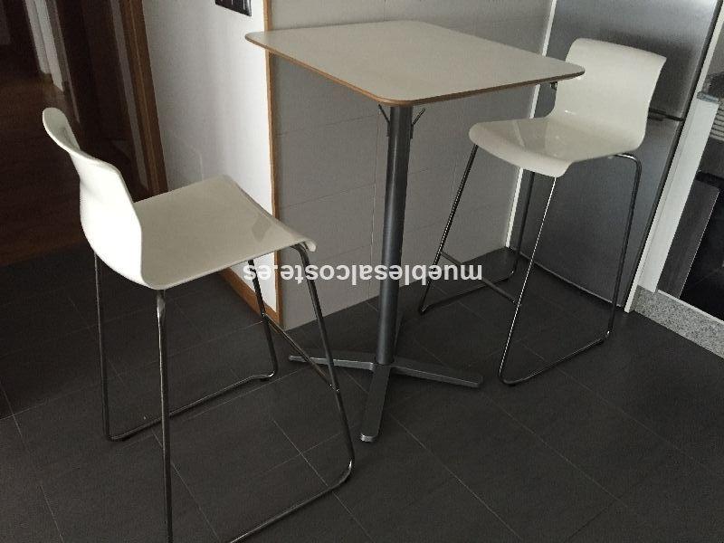 Mesa de cocina alta + 2 taburetes cod:14289 segunda mano ...