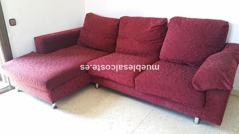 Sofa cheslong estilo moderno acabado chapa natural cod - Sofas cheslong segunda mano ...