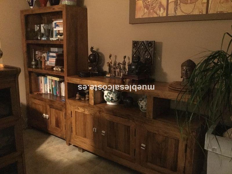 Estanterias y k mueble bajo de madera de castano cod 20927 - Madera de castano ...