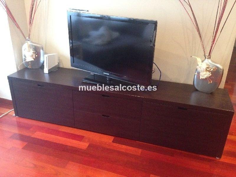 Mueble tv estilo moderno acabado madera cod 13757 for Mueble television segunda mano