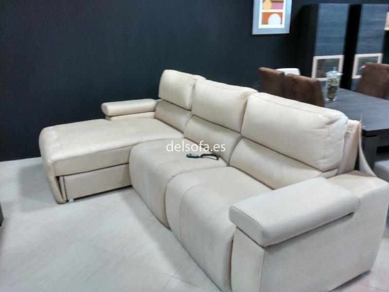 Sofa chaisse longe con arcon y 2 asientos electricos